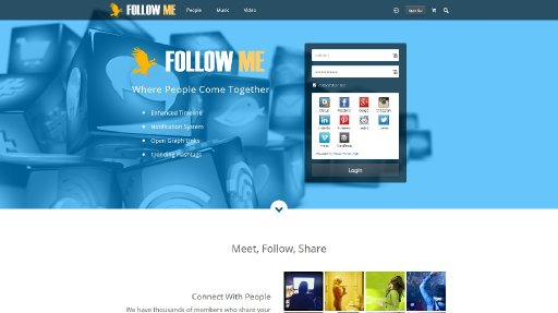 Follow Me demo screenshot