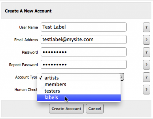 Power Users - Creating A Record Label Quota - Ultrajam | Jamroom