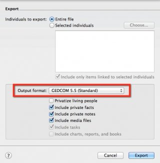 Step 2: Export your Family Tree Maker tree in GEDCOM 5.5 format