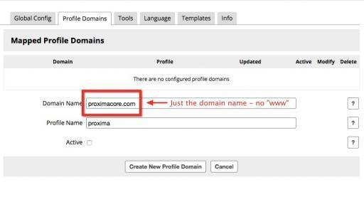 Add a Profile Domain