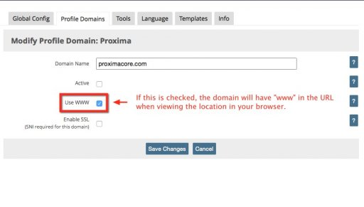Modify the New Domain Mapping