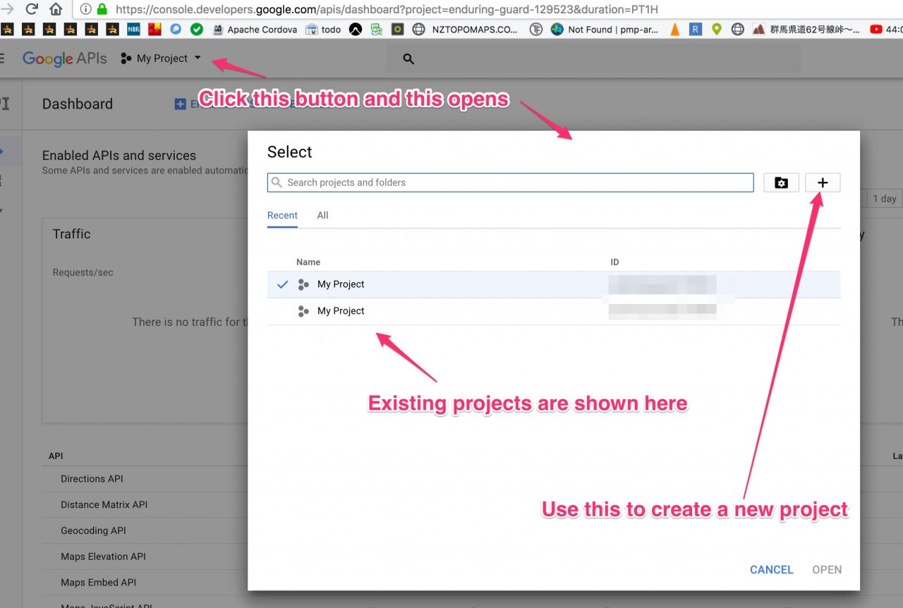 How to get your youtube api key youtube importer - Create A Project In The Google Developers Console