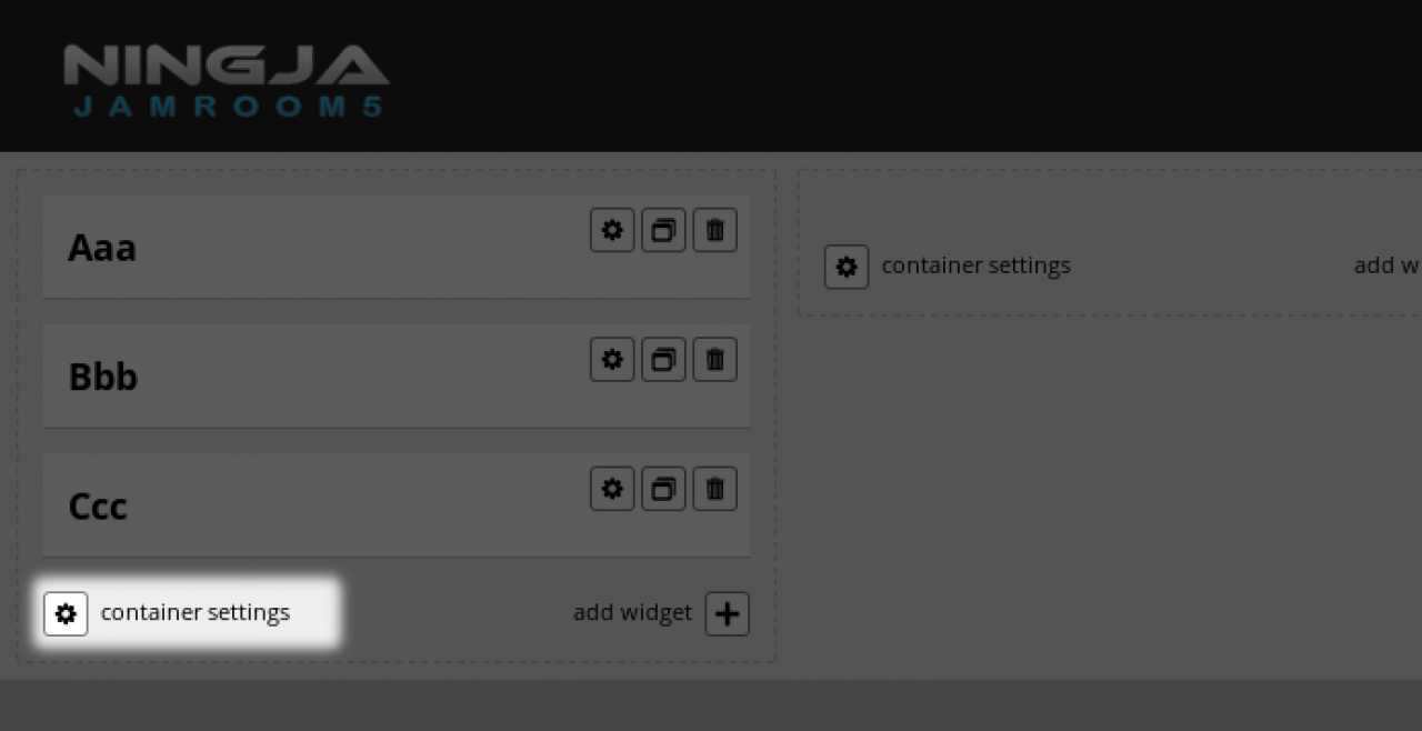 "The Button ""Container Settings"""