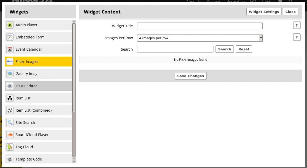 Widget: Flickr