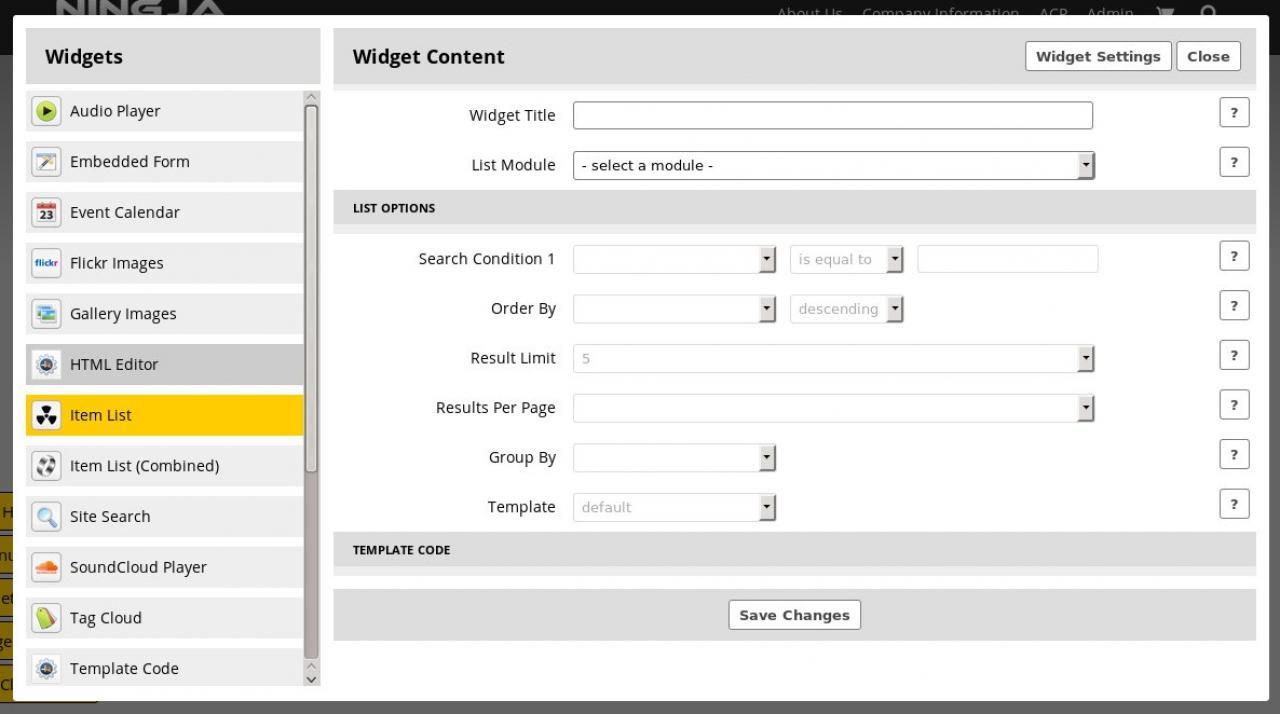 Widget: Item List