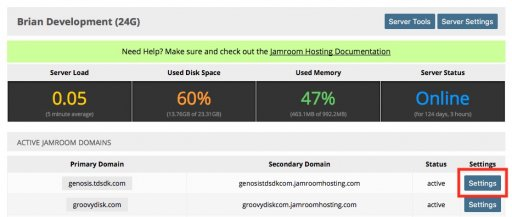 Delete an existing Jamroom Domain