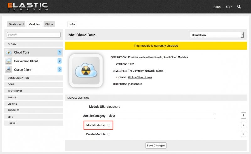 Enable the Cloud Modules in your Jamroom