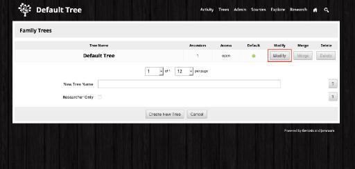 "Renaming the ""Default"" Tree"