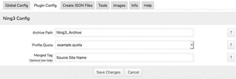 Ning3 Plugin Configuration
