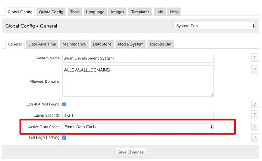 Enable Redis as the Active Data Cache