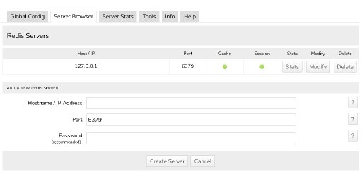Redis Cache - Server Browser