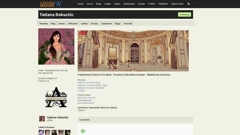 Living History - Via - Virtual Worlds - Tatiana Dokuchic